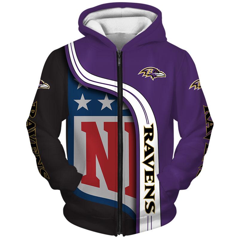 Baltimore Ravens Zip Hoodie
