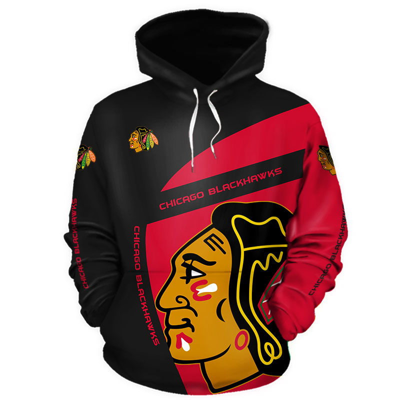 NHL Chicago Blackhawks 3D Hoodie V1