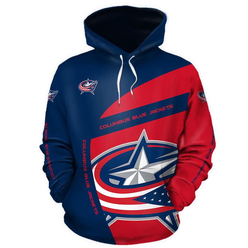 NHL Columbus Blue Jackets 3D Hoodie V1