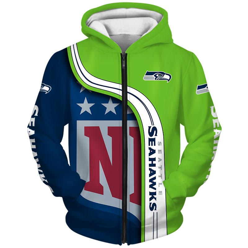 Seattle Seahawks Hoodie 3D Pullover Sweatshirt NFL for fans