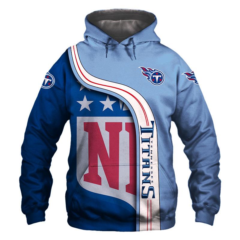 L Tennessee TITANS: Light BLUE Sweatshirt HOODIE  M 2XL, XL