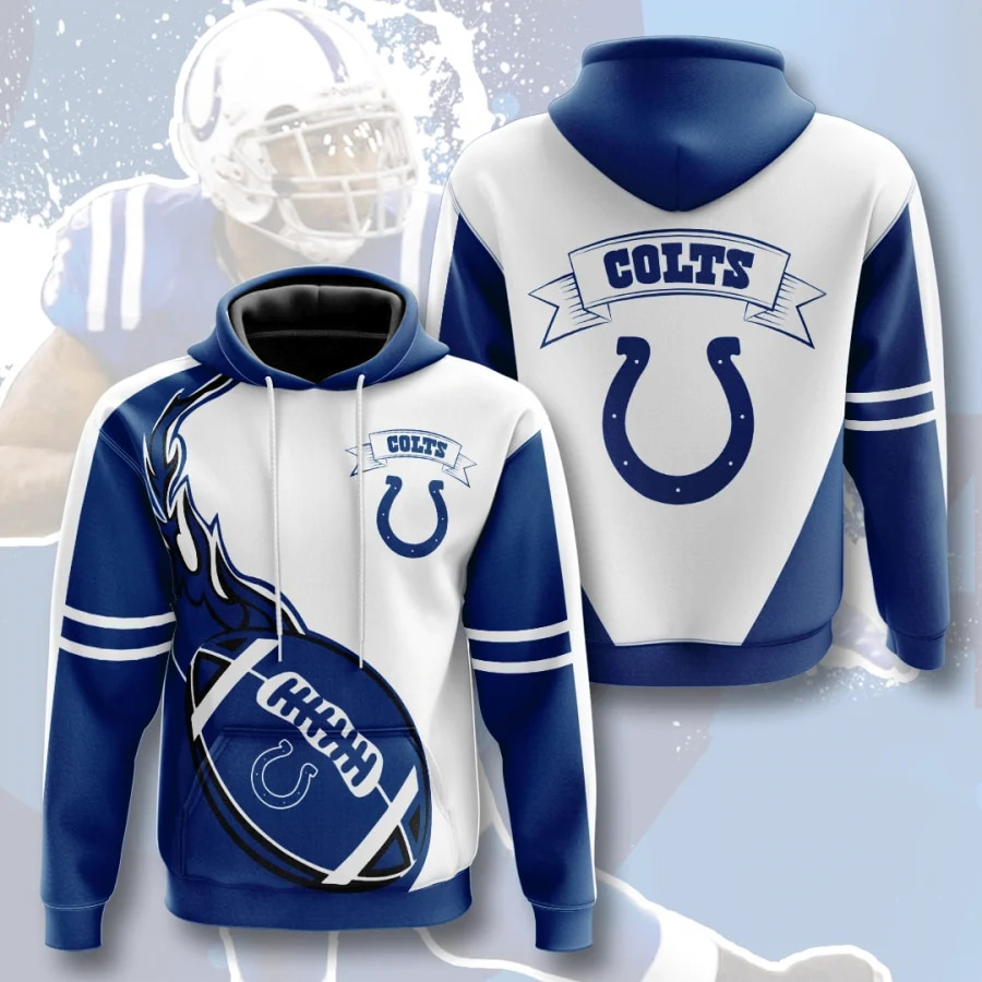 Indianapolis Colts Hoodie Flame Balls