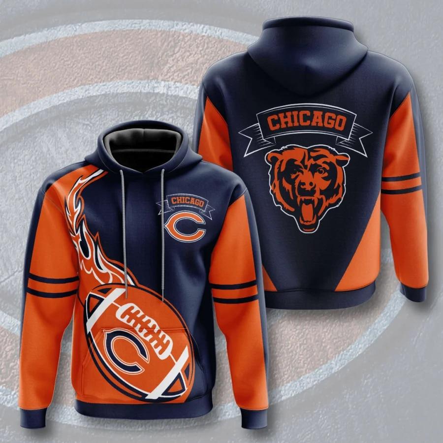 Chicago Bears hoodie Flame Balls