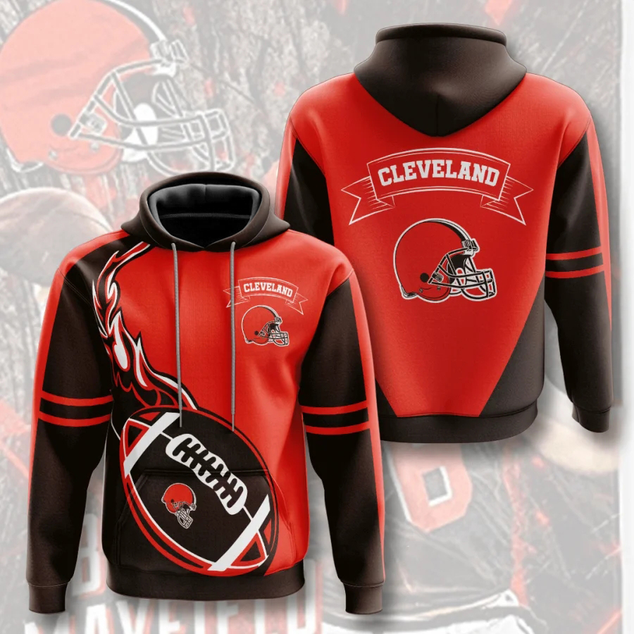 Cleveland Browns Hoodie Flame Balls